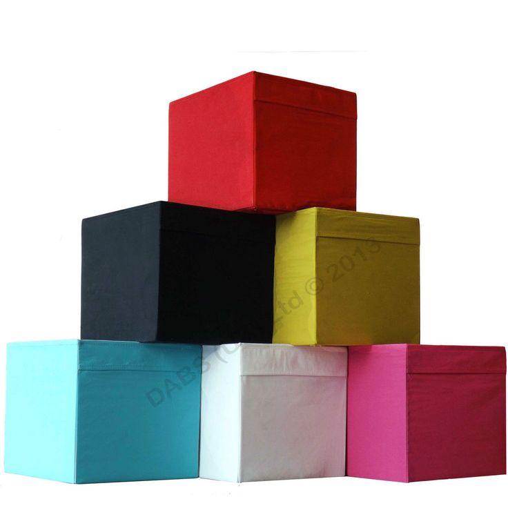 IKEA Drona Storage Box Expedit Book Shelf / Kallax Shelving Toys, Fabric Boxes