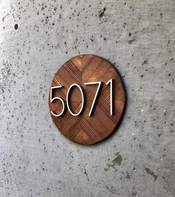 House Number Plaque House Numbers House Number Wood House Number Sign Modern House Number Address Plaque Address Sign Round No N5 Modern House Numbers Sign House Number Plaque Modern House Number