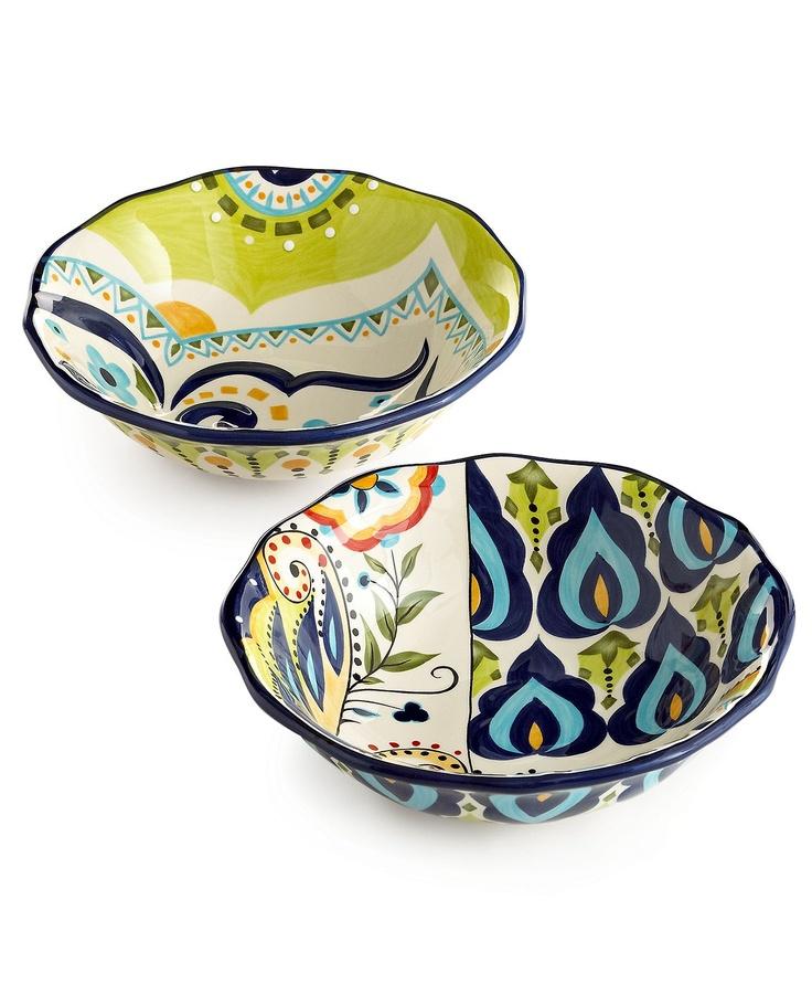 Espana Bocca Geo Pasta Bowls