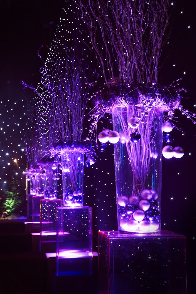 Glass vase decorations at Cirque de Lumière 2013 at the NEC, Birmingham.  (Photo credit Vivid Experience Ltd)