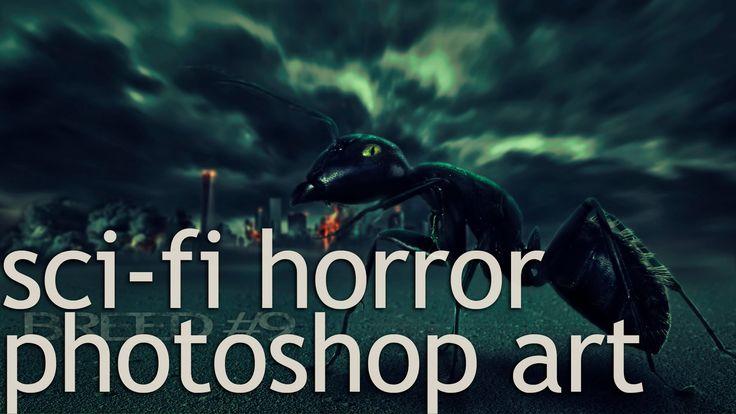 BREED#9 fantasy / sci-fi horror photoshop manipulation (speed art)