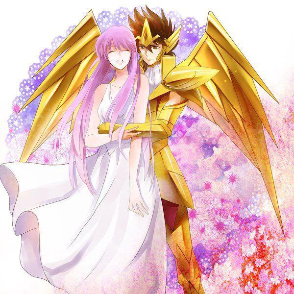 Saori et Seiya