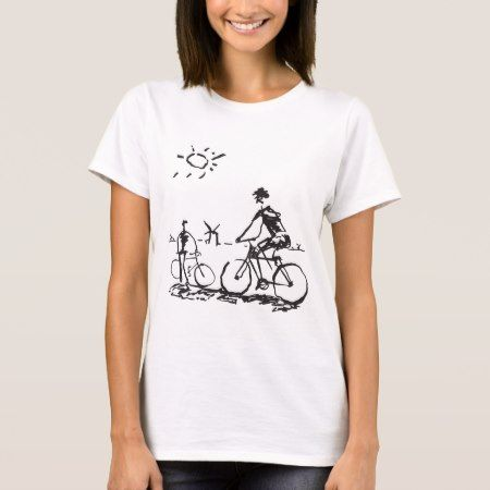 Bicycling Bike Sketch T-Shirt - tap to personalize and get yours