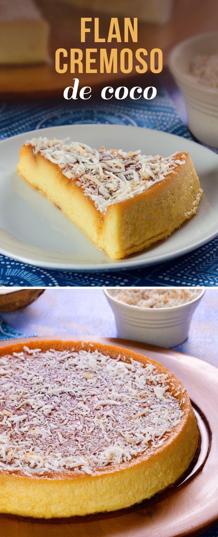 Este flan de coco tiene la combinación perfecta entre crema de coco y el crocante sabor del coco tostado. Un postre para compartir con la familia el fin de semana o celebrar Navidad y Año Nuevo.