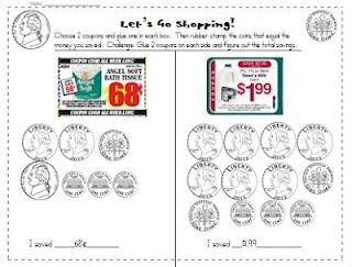 Money Counting Freebie: Math Centers, Math Ideas, Center Idea, Center Freebie, Shopping Math, Coupon, Lets Go, Math Money