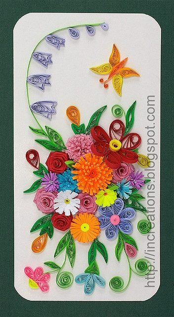 Paper Quilling Flowers and Butterflies