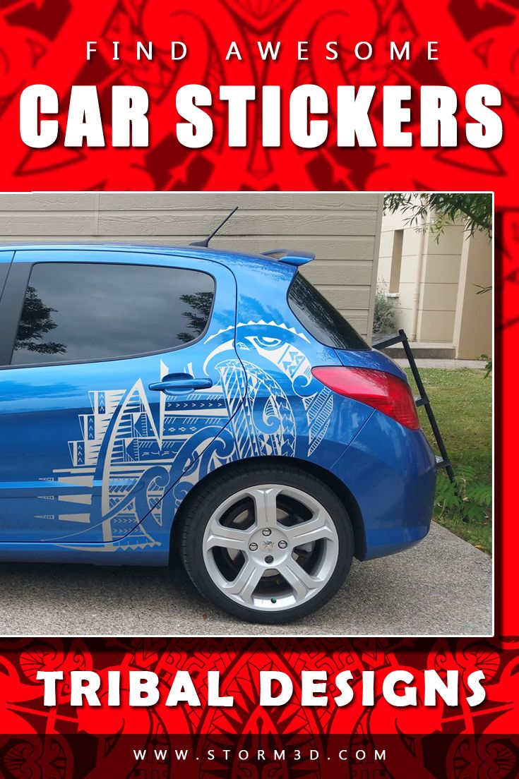 Find awesome car stickers in tribal designs here cool vinyl decals in vector files suitable for all types of cars browse the gallery and find your