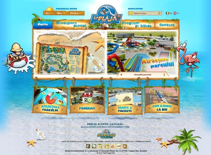 web design La Plaja - pentru parcul acvatic Divertiland