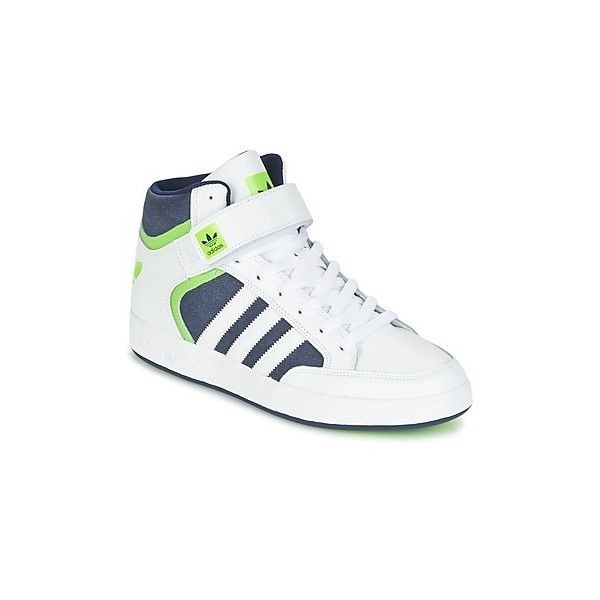 adidas VARIAL MID Shoes (High-top Trainers) ($73) ❤ liked on Polyvore featuring men's fashion, men's shoes, men's sneakers, high top trainers, men, shoes, white, mens white sneakers, mens white high top sneakers and mens leather shoes