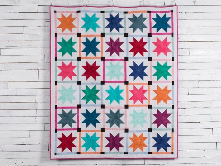 Stunning Stars Call Me Contemporary Quilt Kit featuring Boundless Blenders Aura Fabric | Craftsy
