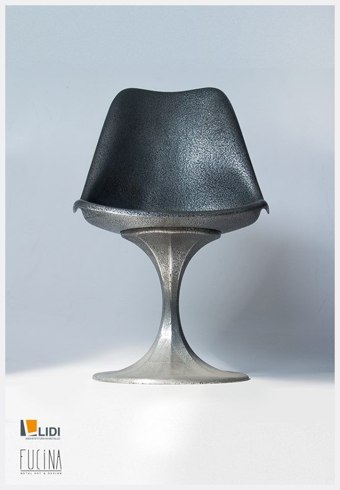 #chair treated with oxydized #zinc.