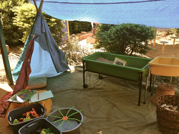 """Lovely camping role-play area - from Early Life Foundations ("""",)"""