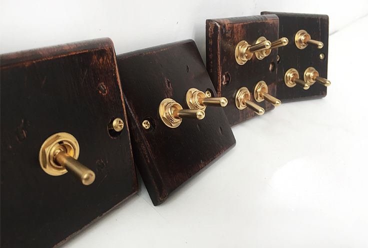wood retro wall switch panel four control two way 6a 110v on wall control id=13697