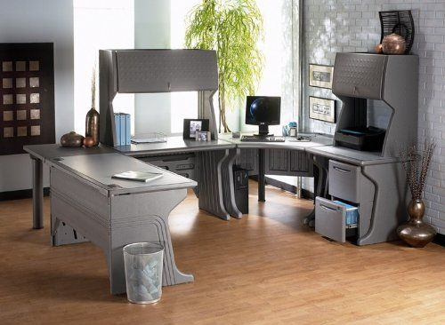 Iceberg Modular U-Shape Desk Suite by Iceberg. $2066.99. Keeps up with the trendy, traditional or transitional office Durable, Blow-Molded high density polyethylene construction Good looking as any metal finish Scratch and rust proof Modular U-Shape Desk Suite washes easily Cable management system and integrated grommets Desk Surfaces have a Reversible Inlay for an entirely different office appearance Rich Granite on one side, Tech-like Gray on the other Both sides pr...