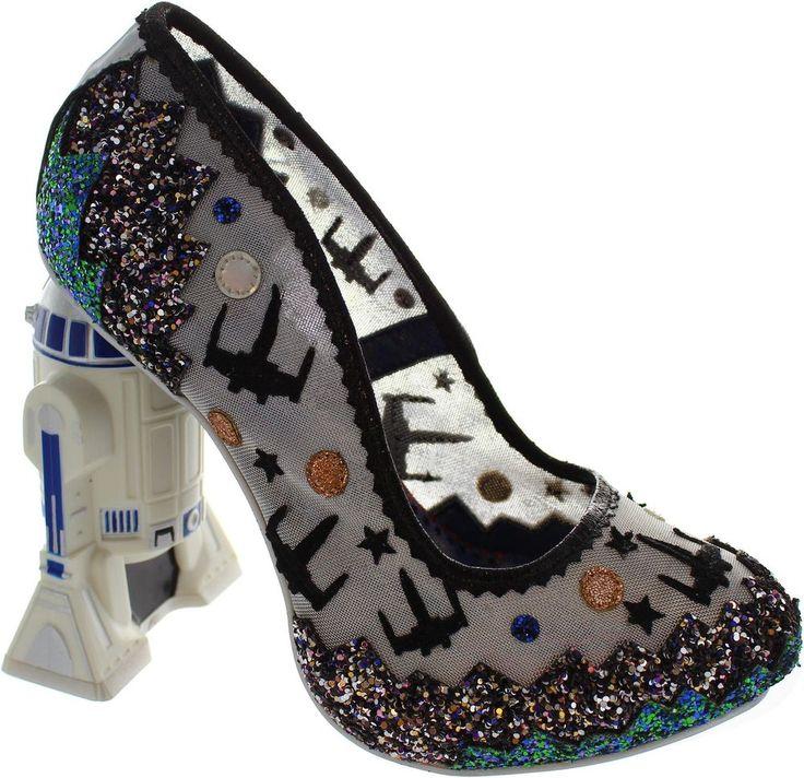 Irregular Choice Battle With Artoo Women s Star Wars Shoes With R2-d2 Heel New