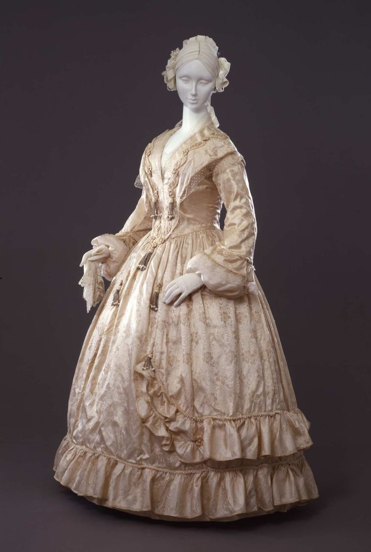 Fripperies and Fobs  Dress ca. 1842-45  From the Galleria del Costume di Palazzo Pitti via Europeana Fashion