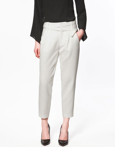 Studio Cropped Trousers from ZARA