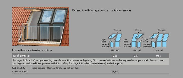 Velux Window With A Balcony For A Loft Conversion Without