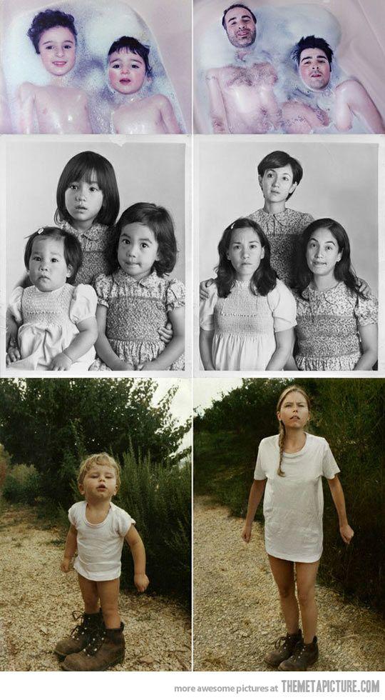 Recreating childhood photos…