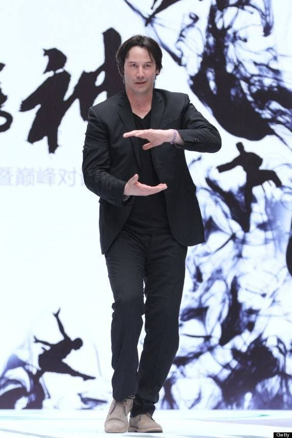 """Keanu Reeves press conference for his film """"Man of Tai Chi"""" (photo credit Getty Images)"""