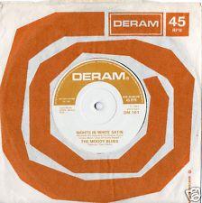 "MOODY BLUES Nights In White Satin 1967 UK 7"" 45 Vinyl Single Record 1960s DM161"