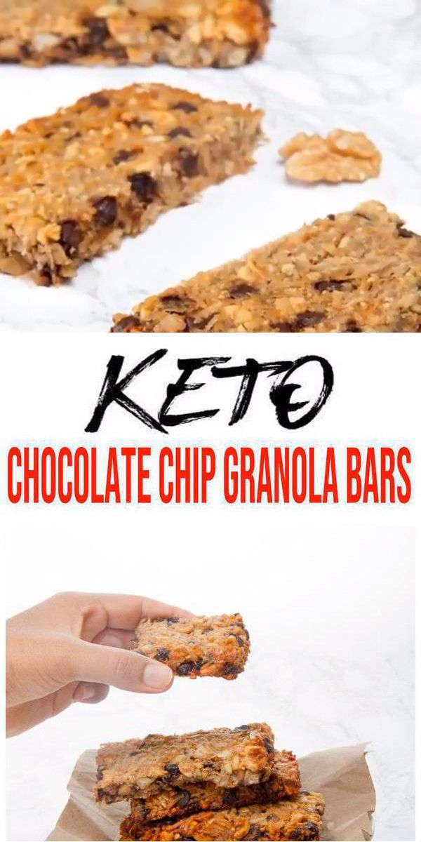 Keto Granola Bars! AMAZING ketogenic diet granola bars – Easy chocolate chip gra…