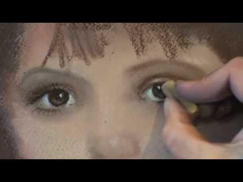 Как рисовать портрет пастелью(2 ч.)