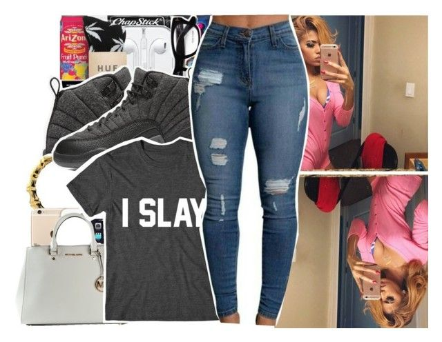 """I slay"" by trillest-shauney ❤ liked on Polyvore featuring art"
