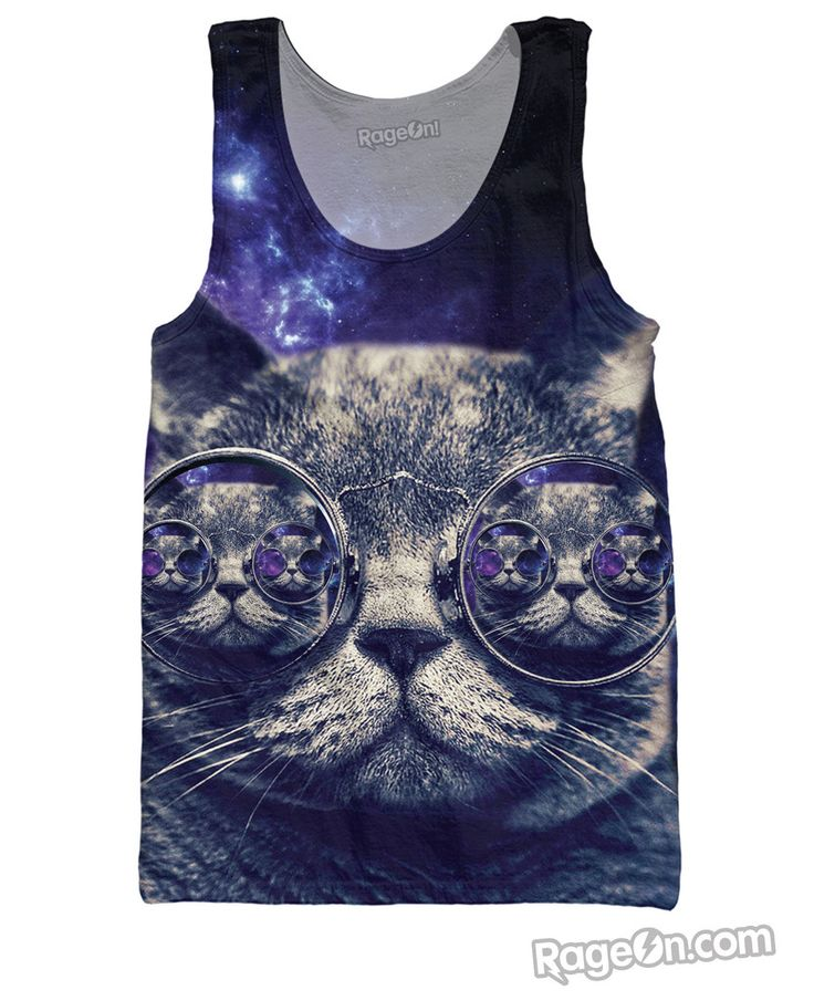 Hipster Kitty Tank Top!! #cat #hipster #rageon #classics #cattanktop