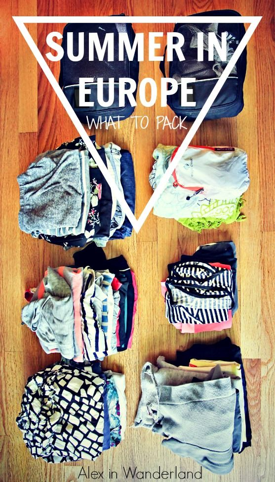What I packed for several weeks in Europe in the summer | Alex in Wanderland