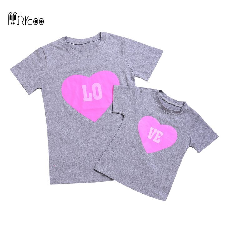 2017 Mother daughter matching clothes the seeds of love matching clothes family 100%cotton family matching christmas outfits