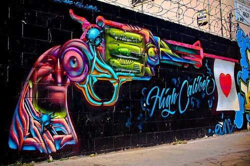 Graffiti. High Caliber by toddwshaffer, via | http://graffiti-artworks-284.blogspot.com