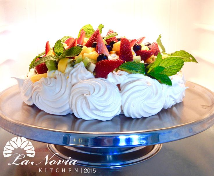 Pavlova chill in the fridge, ready to be served