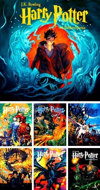 Harry Potter Book Covers Swedish : Harry potter book covers books and