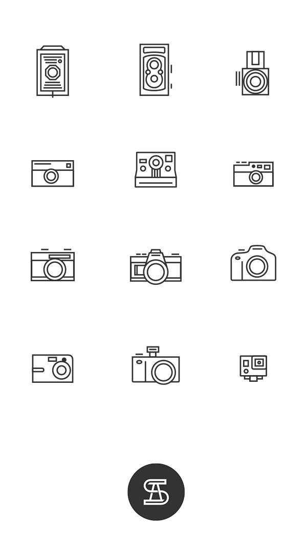 Iconos fotográficos - Angeloletra #icons #illustration #design