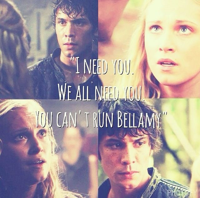 The 100 - Bellamy and Clarke #Bellarke