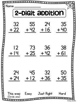 first grade math unit 13 for 2 digit addition and. Black Bedroom Furniture Sets. Home Design Ideas