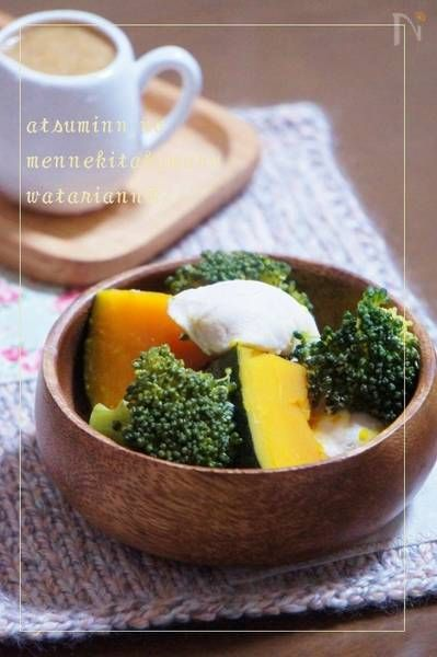 たっぷり蒸し野菜の美的ソース by 渥美まゆ美 / たっぷりの蒸し野菜においしいソースをつけたくて作りました。 / Nadia