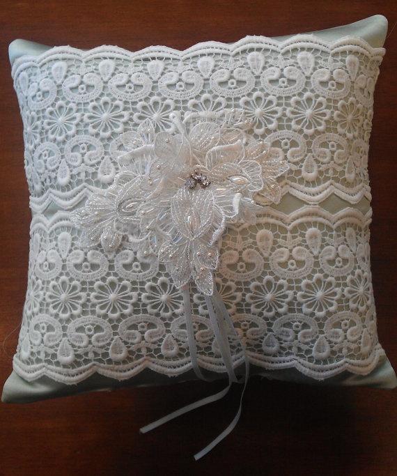 Handmade wedding ring pillow couture ring cushion made with love for your special day & 18 best Ring cushions images on Pinterest   Wedding ring cushion ... pillowsntoast.com
