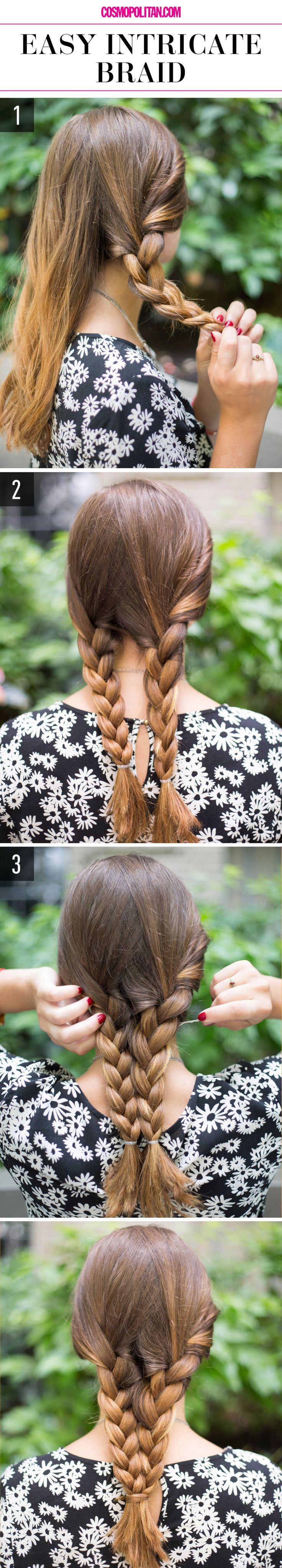 15 Super-Easy Hairstyles for Lazy Girls Who Can't Even: #15. Easy Intricate Braid