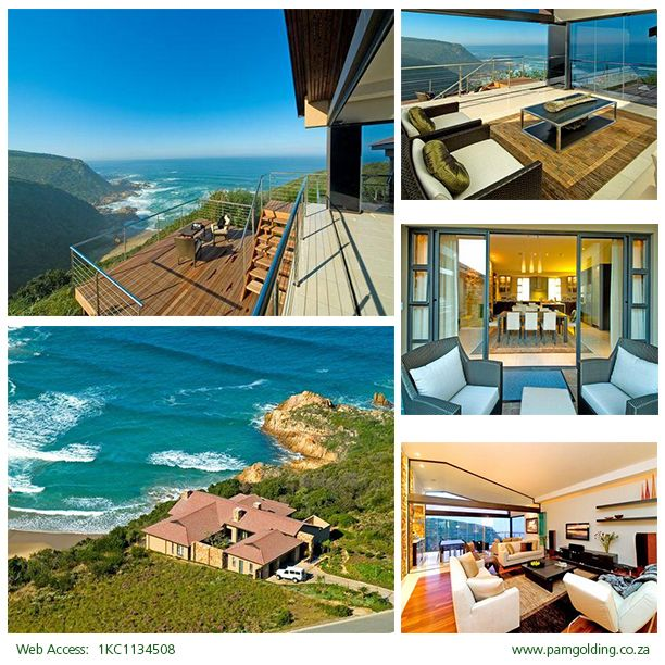 This magnificent home, perched on the cliff edge, looks out over the small Cove beach with views of coastal forest and crashing waves beyond. Located in Knysna, Garden Route, South Africa this Pam Golding property is listed at R12,000,000. CLICK IMAGE FOR MORE INFORMATION.