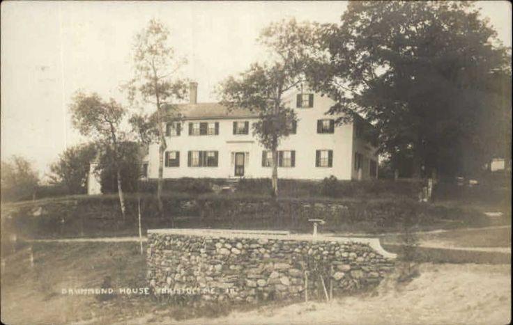 Bristol Maine ME Drummond House c1910 Real Photo Postcard