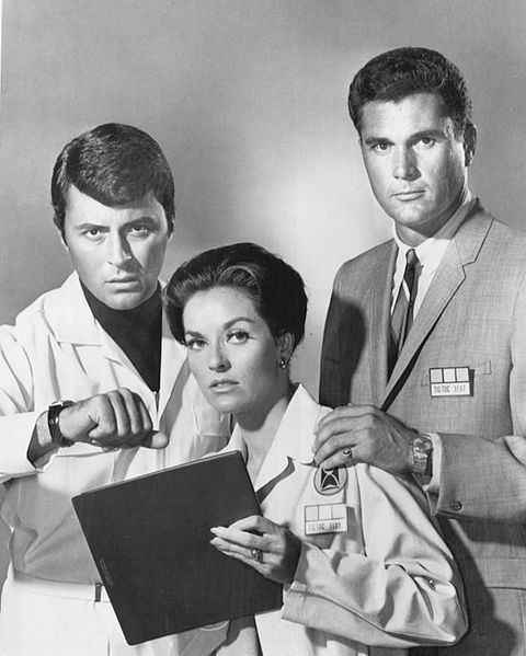 James Darren, Lee Meriwether, Robert Colbert in the 'Time Tunnel' 1966 - remember this one folks? 1966–1967 science fiction TV series, written around a theme of time travel adventure. The show was creator-producer Irwin Allen's third science fiction television series, released by 20th Century Fox and broadcast on ABC.