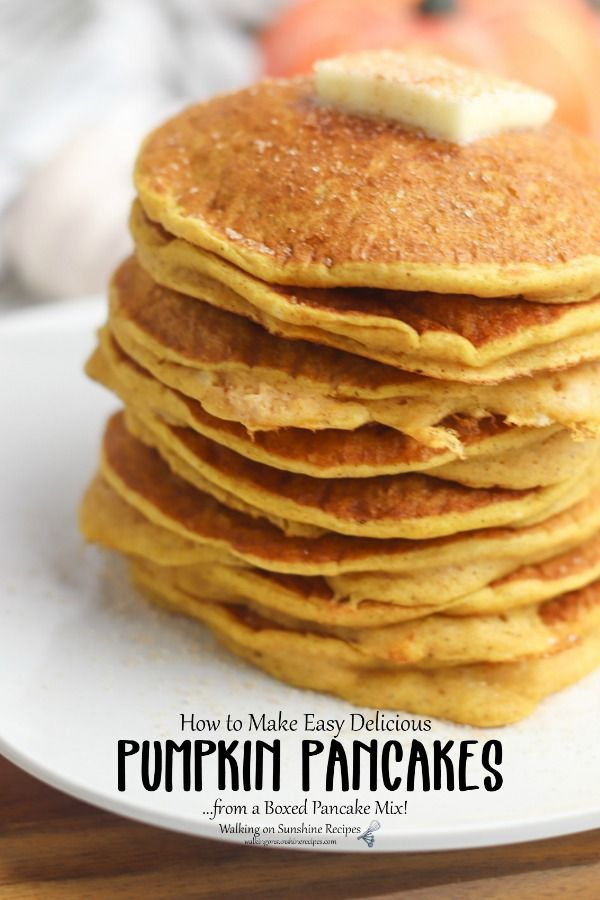 Fall into Fall: with Pumpkin Pancakes!