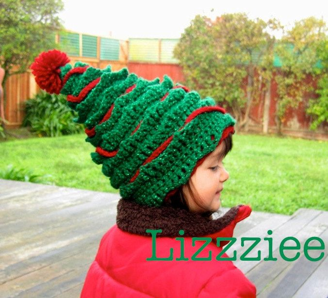 Oh Christmas Tree Crochet Hat PATTERN PDF file - Instructions to make?