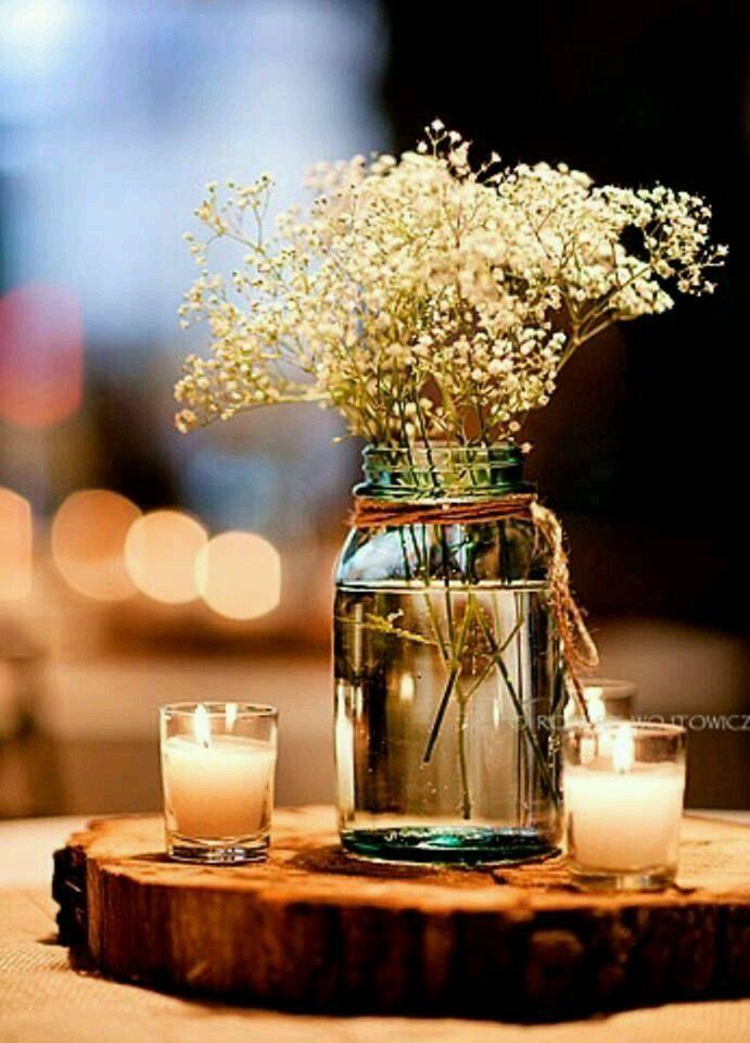 centros de mesa de estilo rstico decoraciones para boda mesas de boda ideas para boda bodas sencillas buscando - Bodas Sencillas