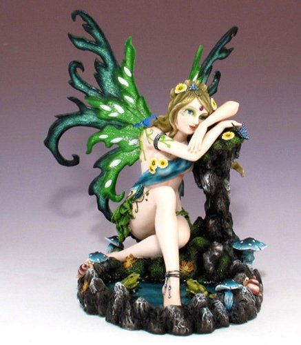 LARGE TROPICAL LAGOON FAIRY PONDERING WITH TOADS AND BUTTERFLY STATUE FIGURINE ATL http://www.amazon.com/dp/B00IR5NYDK/ref=cm_sw_r_pi_dp_R5YXub0YQ9Y4Y