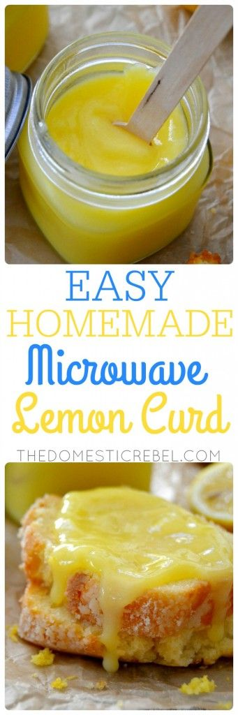 This EASY Homemade Microwave Lemon Curd is SO simple and tastes DIVINE. 5 ingredients, made in minutes, and is buttery, zesty, bright and lemony. Spread it on pancakes, scones, muffins, in between cake layers, or eat by the spoonful! (easy summer desserts lemon)