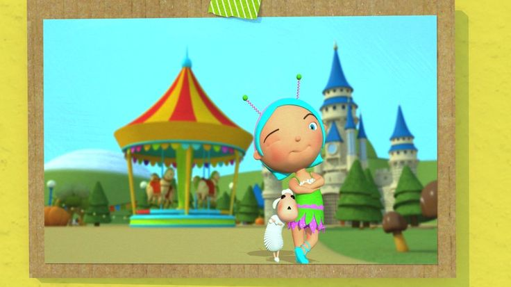 Mary Had A Little Lamb. Still from video by #HuggyBoBo - watch on YouTube https://goo.gl/GkwK9B