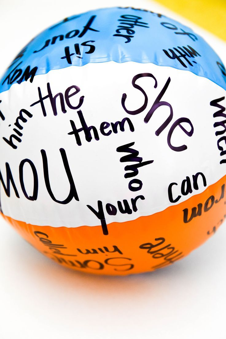 sight word ball - perfect warm-up/morning meeting game
